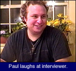 Paul laughs at interviewer